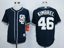 Mens Mlb San Diego Padres #46 Kimbrel Blue ( Sd ) Cool Base Jersey