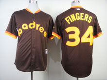 Mens Mlb San Diego Padres #34 Cashner 1984 Turn Back The Clock Coffee Jersey