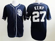 Mens Mlb San Diego Padres #27 Matt Kemp Blue ( Sd ) Flex Base Jersey