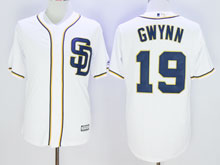 Mens Mlb San Diego Padres #19 Tony Gwynn White ( Sd ) Cool Base Jersey