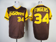 Mens Mlb San Diego Padres #34 Cashner Coffee Throwbacks Pullover Jersey