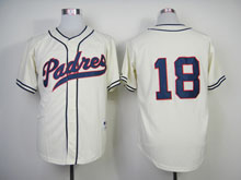 Mens Mlb San Diego Padres #18 Quentin Cream ( No Name) Cool Base Jersey