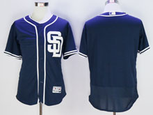 Mens Mlb San Diego Padres Blank Blue ( Sd ) Flex Base Jersey