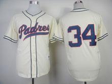 Mens Mlb San Diego Padres #34 Cashner Cream ( No Name ) 1984 Turn Back Throwbacks Jersey