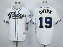 Mens Majestic San Diego Padres #19 Tony Gwynn White Cool Base Jersey
