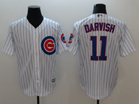 Mens Majestic Mlb Chicago Cubs #11 Yu Darvish White Cool Base Jersey With Team Patch