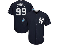 Mens Mlb New York Yankees #99 Aaron Judge Majestic Navy 2018 Spring Training Cool Base Player Jersey