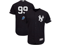 Mens Mlb New York Yankees #99 Aaron Judge (no Name) Majestic Navy 2018 Spring Training Cool Base Player Jersey