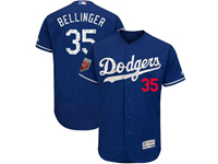 Mens Mlb Los Angeles Dodgers #35 Cody Bellinger Majestic Blue 2018 Spring Training Flex Base Player Jersey