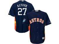 Mens Mlb Houston Astros #27 Jose Altuve Majestic Navy 2018 Spring Training Cool Base Player Jersey