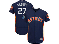 Mens Mlb Houston Astros #27 Jose Altuve Majestic Navy 2018 Spring Training Flex Base Team Jersey