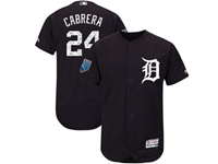 Mens Mlb Detroit Tigers #24 Miguel Cabrera Majestic Navy 2018 Spring Training Flex Base Player Jersey
