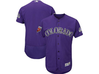 Mens Mlb Colorado Rockies Blank Majestic Purple 2018 Spring Training Flex Base Team Jersey