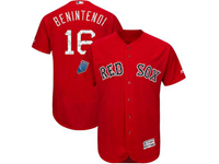Mens Mlb Boston Red Sox #16 Andrew Benintendi Red Majestic 2018 Spring Training Flex Base Player Jersey