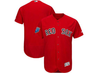Mens Mlb Boston Red Sox Blank Majestic Red 2018 Spring Training Flex Base Team Jersey