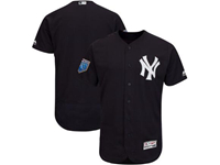 Mens Mlb New York Yankees Blank Majestic Navy 2018 Spring Training Flex Base Team Jersey