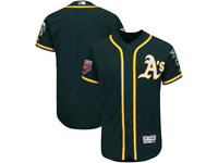 Mens Mlb Oakland Athletics Blank Majestic Green 2018 Spring Training Flex Base Team Jersey