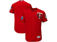 Mens Mlb Minnesota Twins Blank Majestic Red 2018 Spring Training Flex Base Team Jersey