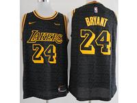 Mens Nba Los Angeles Lakers #24 Kobe Bryant Black Nike City Authentic Jersey