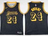 Mens Nba Los Angeles Lakers #24 Kobe Bryant Black Nike City Retirement Commemorative Jersey