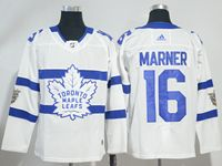 Mens Nhl Toronto Maple Leafs #16 Mitch Marner White Adidas 2018 Stadium Series Authentic Pro Player Jersey