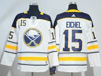 Mens Nhl Buffalo Sabres #15 Jack Eichel White Away Breakaway Adidas Jersey