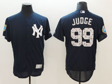 Mens Mlb New York Yankees #99 Aaron Judge Navy 2018 Spring Training Flex Base Jersey