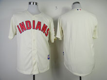 Mens Mlb Cleveland Indians Blank Cream Cool Base Jersey