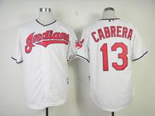 Mens Mlb Cleveland Indians #13 Omar Vizquel White Jersey