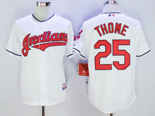 Mens Mlb Cleveland Indians #25 Jim Thome White Cool Base Jersey