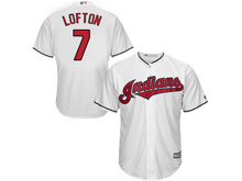 Mens Mlb Cleveland Indians #7 Kenny Lofton White Cool Base Jersey