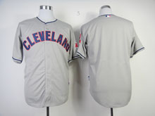 Mens Mlb Cleveland Indians Blank Gray Cool Base Jersey