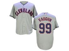 Mens Mlb Cleveland Indians #99 Rick Vaughn Gray Cool Base Jersey
