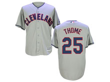Mens Mlb Cleveland Indians #25 Jim Thome Gray Cool Base Jersey