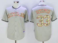 Mens Mlb Cleveland Indians #33 Swisher Gray Camo Number Cool Base Jersey