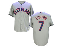 Mens Mlb Cleveland Indians #7 Kenny Lofton Gray Cool Base Jersey