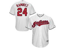 Mens Mlb Cleveland Indians #24 Manny Ramirez White Cool Base Jersey