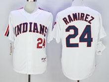 Mens Mlb Cleveland Indians #24 Manny Ramirez White Jersey