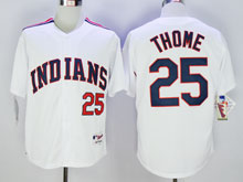 Mens Mlb Cleveland Indians #25 Jim Thome White 1978 Mitchell & Ness Jersey