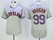 Mens Mlb Cleveland Indians #99 Rick Vaughn Gray Flex Base Jersey