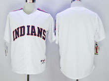 Mens Mlb Cleveland Indians Blank White Cool Base Jersey