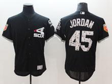 Mens Mlb Chicago White Sox #45 Michael Jordan Black 2018 Spring Training Flex Base Player Jersey