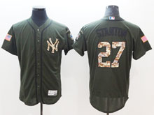 Mens Mlb New York Yankees #27 Giancarlo Stanton Green Fashion 2016 Memorial Day Flex Base Jersey