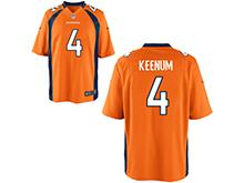 Mens Womens Youth Nfl Denver Broncos #4 Case Keenum Orange Nike Game Jersey