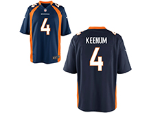 Mens Womens Youth Nfl Denver Broncos #4 Case Keenum Blue Nike Game Jersey