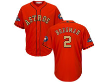 Youth Mlb Houston Astros #2 Alex Bregman Orange 2018 Gold Program Cool Base Player Jersey