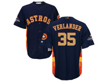 Mens Mlb Houston Astros #35 Justin Verlander Navy 2018 Gold Program Cool Base Player Jersey