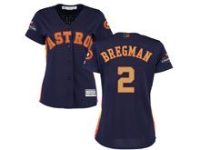 Women Mlb Houston Astros #2 Alex Bregman Navy 2018 Gold Program Cool Base Player Jersey
