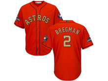 Youth Mlb Houston Astros #2 Alex Bregman Orange 2018 Gold Program Cool Base Player Jersey