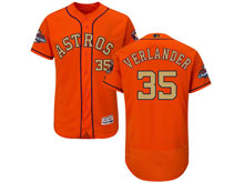 Mens Mlb Houston Astros #35 Justin Verlander Orange 2018 Gold Program Flex Base Player Jersey